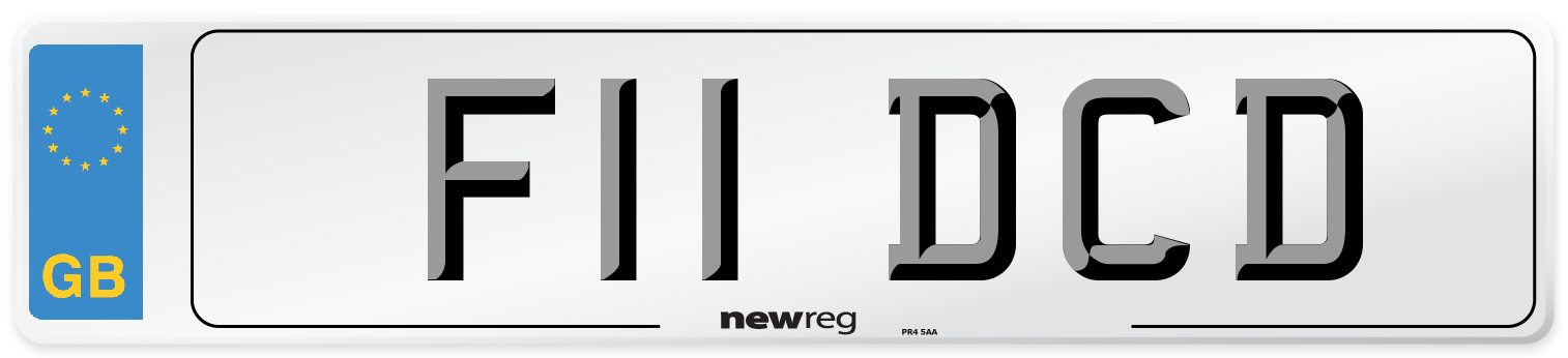 F11 DCD Number Plate from New Reg