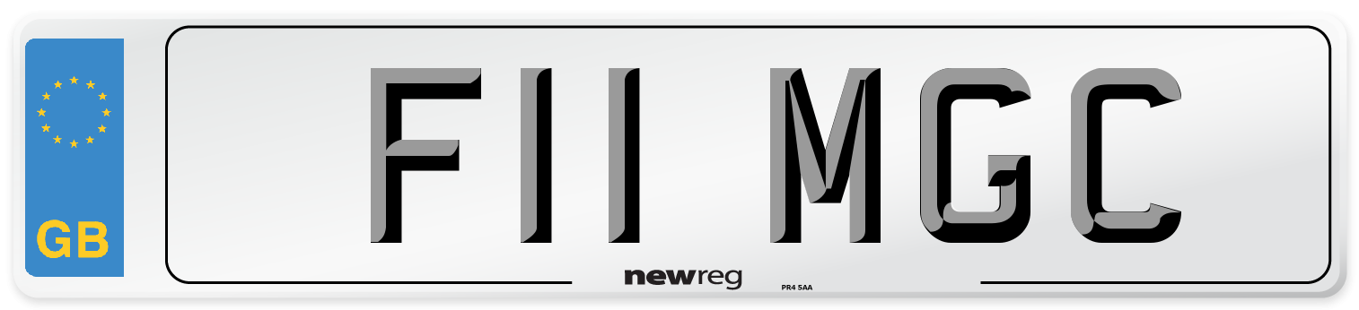 F11 MGC Number Plate from New Reg