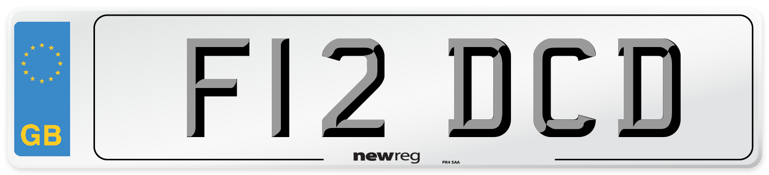 F12 DCD Number Plate from New Reg