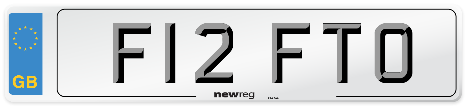 F12 FTO Number Plate from New Reg