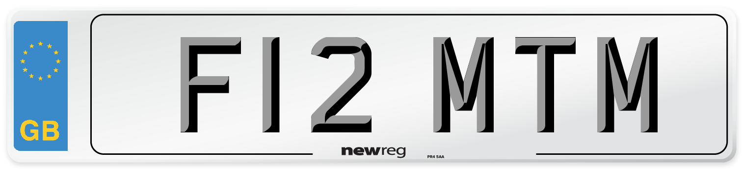 F12 MTM Number Plate from New Reg