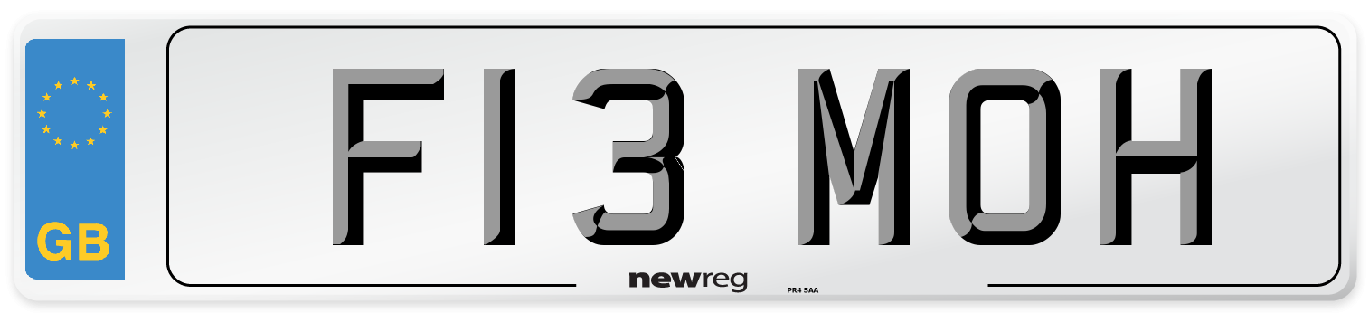 F13 MOH Number Plate from New Reg