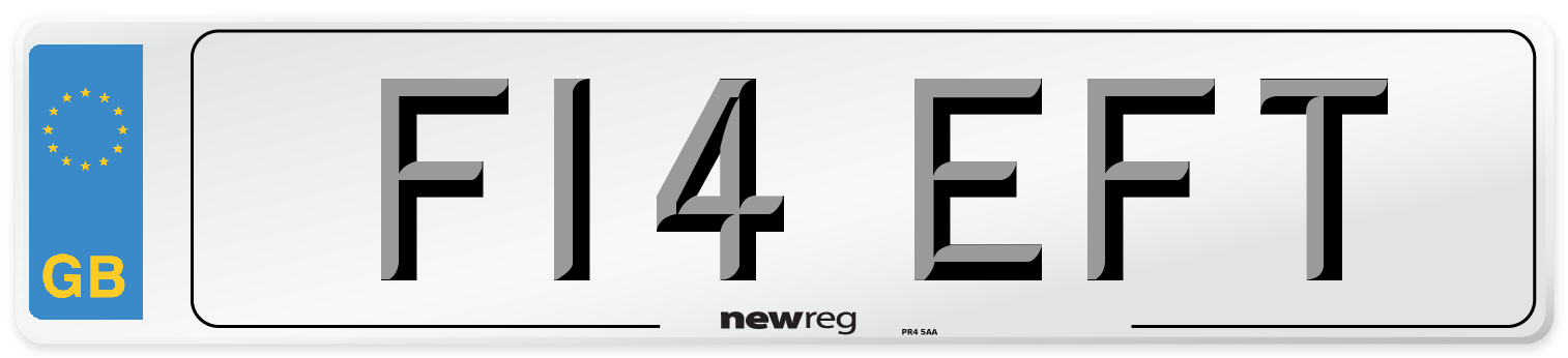 F14 EFT Number Plate from New Reg