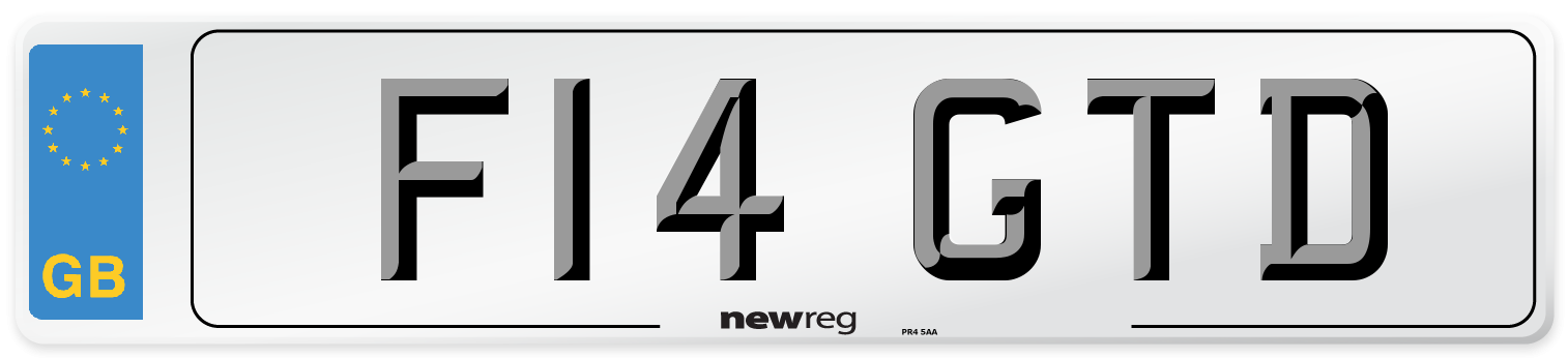 F14 GTD Number Plate from New Reg