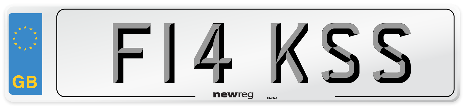 F14 KSS Number Plate from New Reg