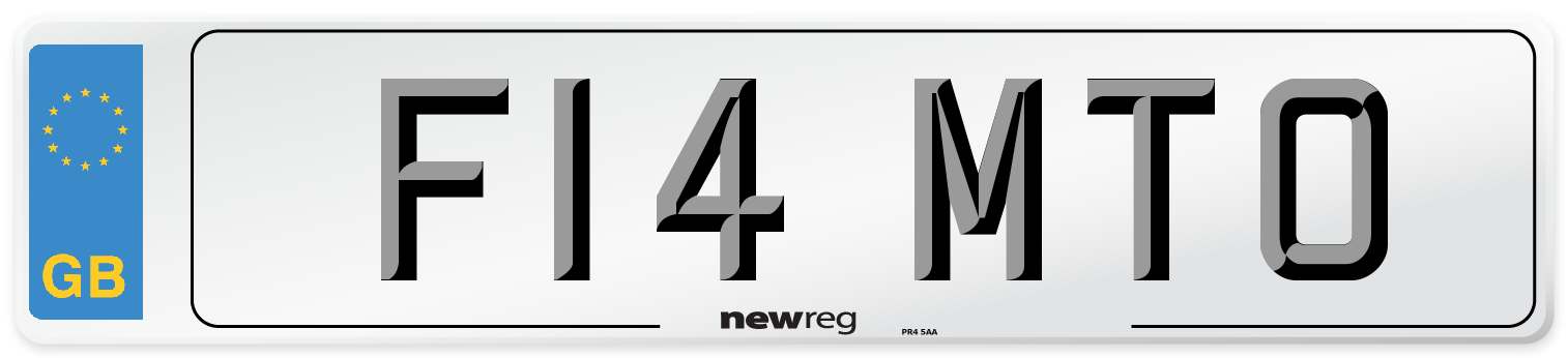 F14 MTO Number Plate from New Reg