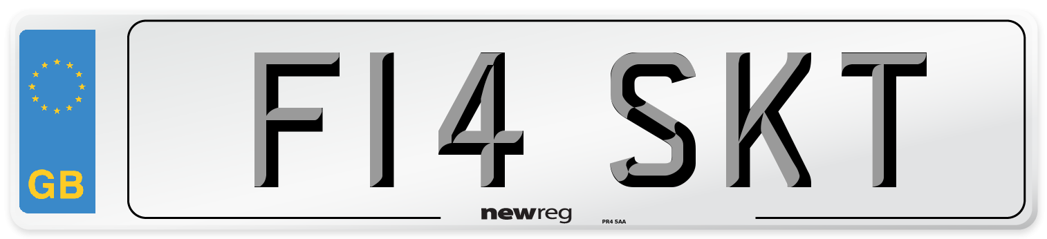 F14 SKT Number Plate from New Reg