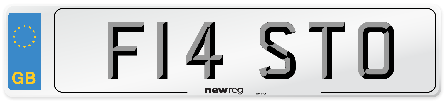F14 STO Number Plate from New Reg