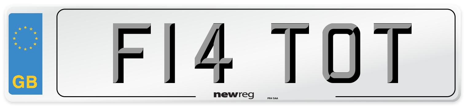 F14 TOT Number Plate from New Reg