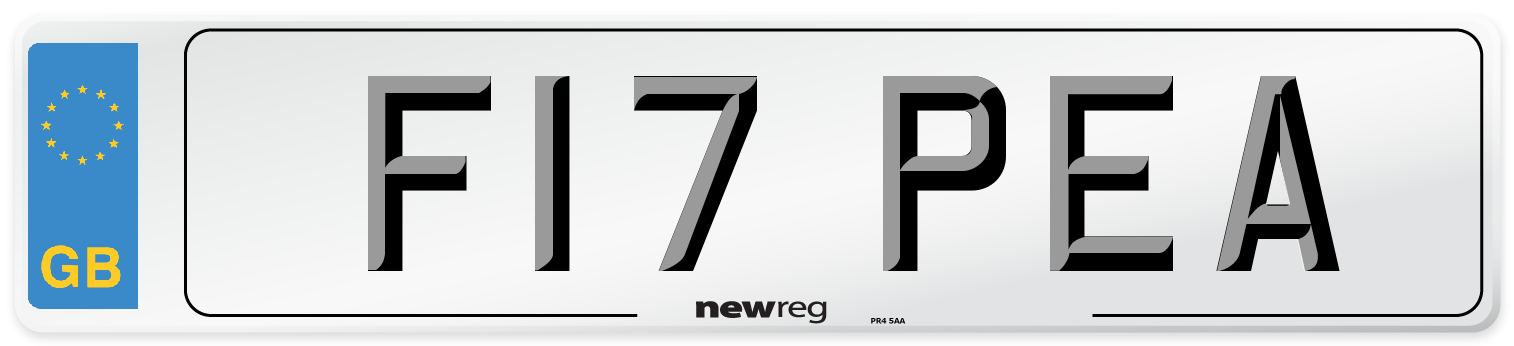 F17 PEA Number Plate from New Reg