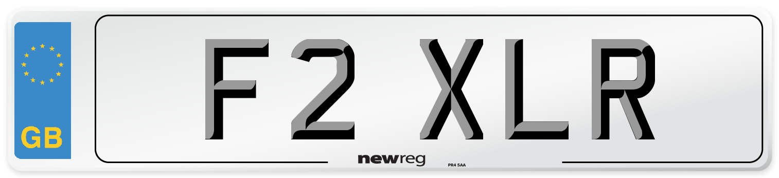 F2 XLR Number Plate from New Reg
