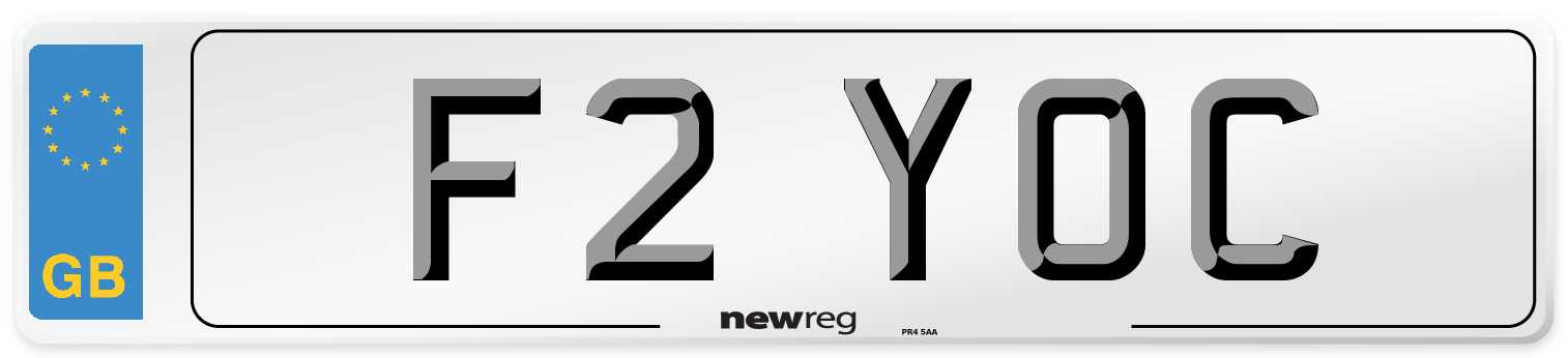 F2 YOC Number Plate from New Reg