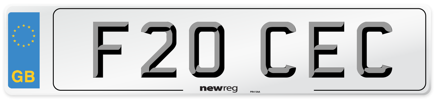 F20 CEC Number Plate from New Reg