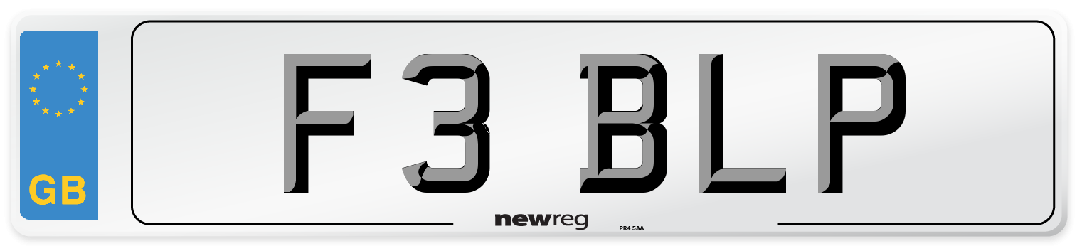 F3 BLP Number Plate from New Reg