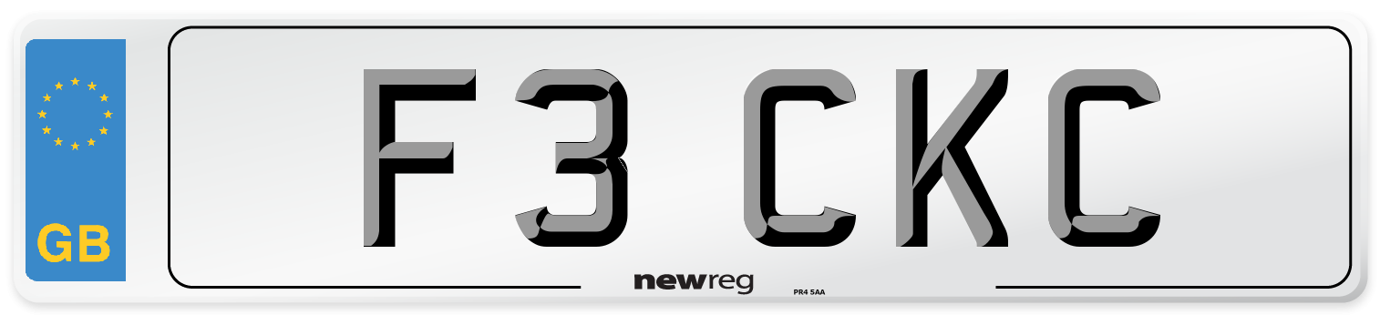 F3 CKC Number Plate from New Reg