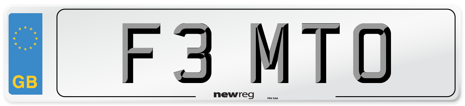F3 MTO Number Plate from New Reg