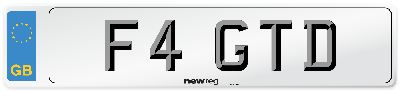 F4 GTD Number Plate from New Reg
