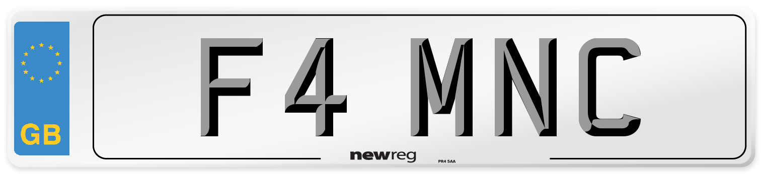 F4 MNC Number Plate from New Reg
