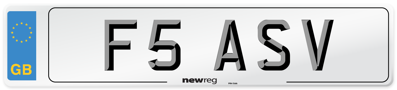 F5 ASV Number Plate from New Reg