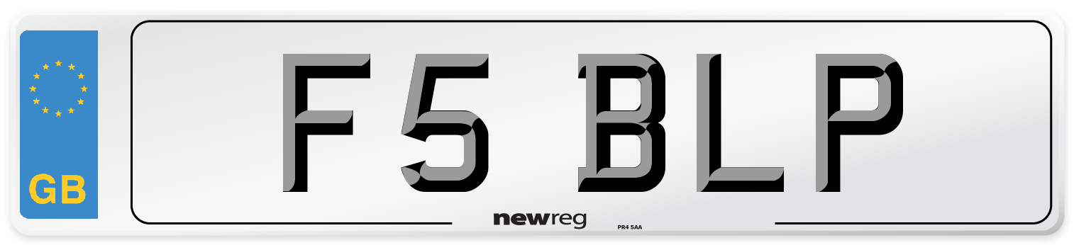 F5 BLP Number Plate from New Reg
