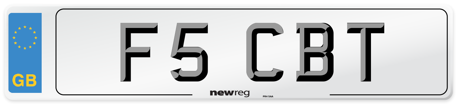 F5 CBT Number Plate from New Reg