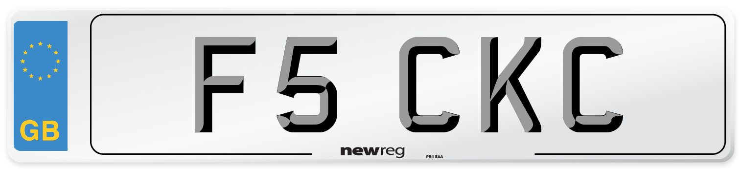 F5 CKC Number Plate from New Reg