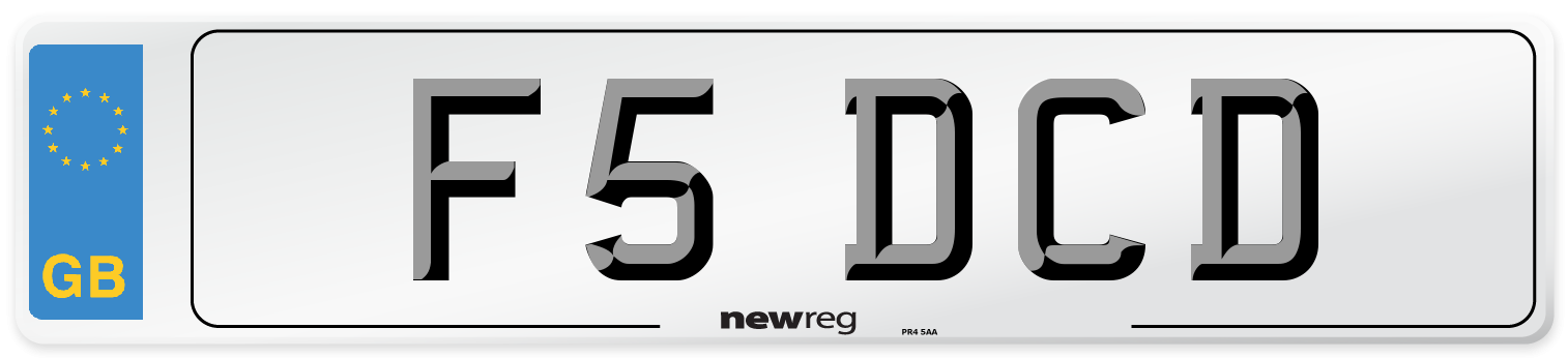 F5 DCD Number Plate from New Reg