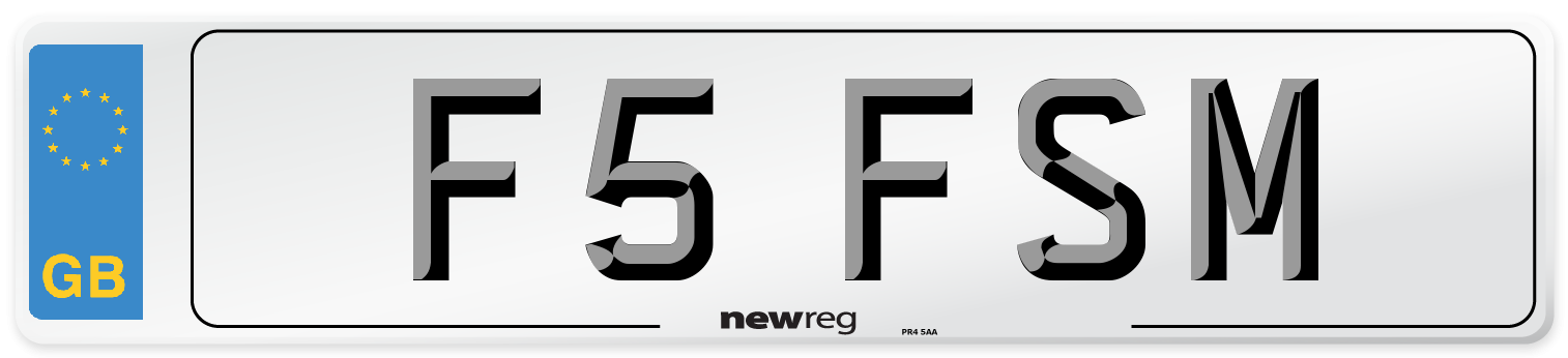 F5 FSM Number Plate from New Reg