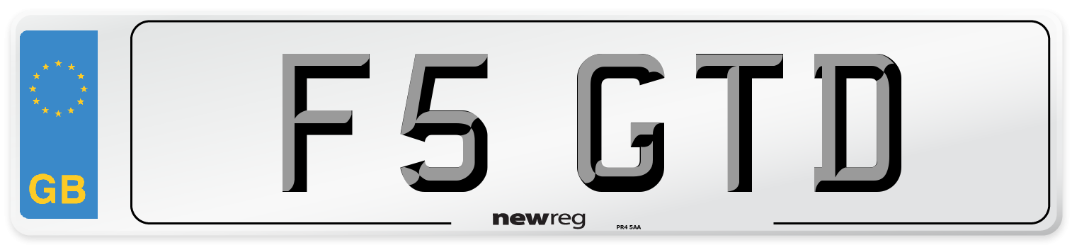 F5 GTD Number Plate from New Reg