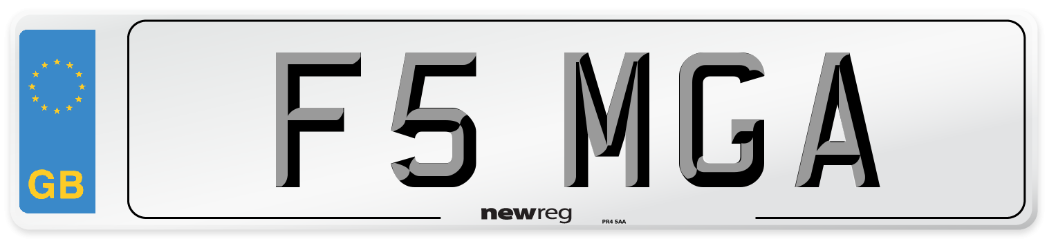 F5 MGA Number Plate from New Reg
