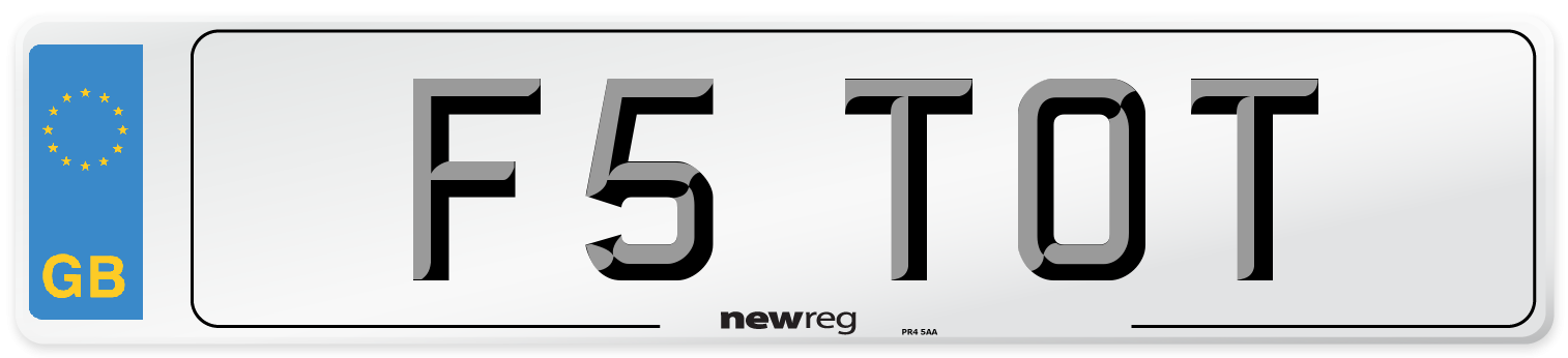 F5 TOT Number Plate from New Reg