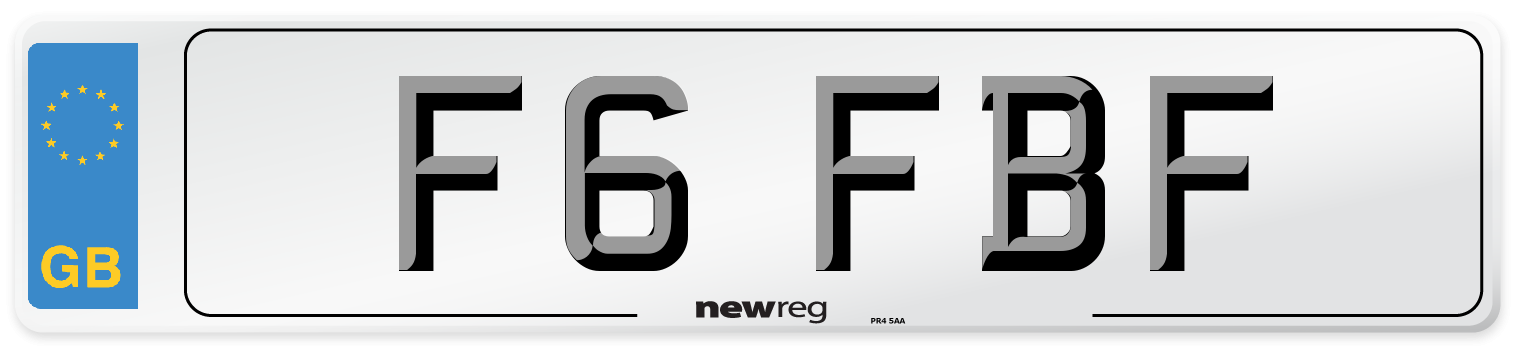 F6 FBF Number Plate from New Reg