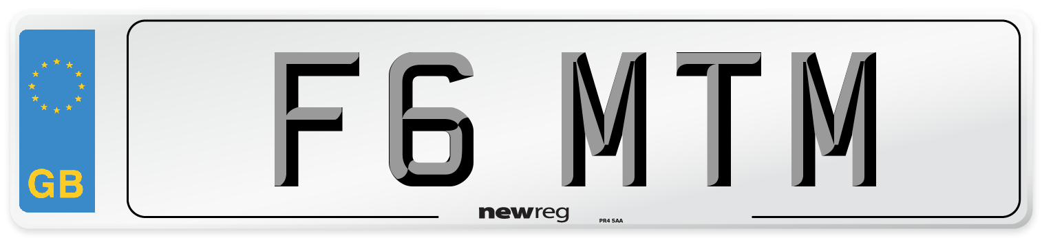 F6 MTM Number Plate from New Reg