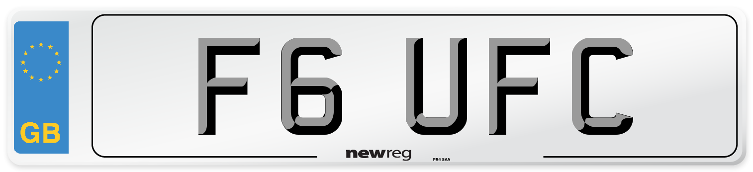 F6 UFC Number Plate from New Reg