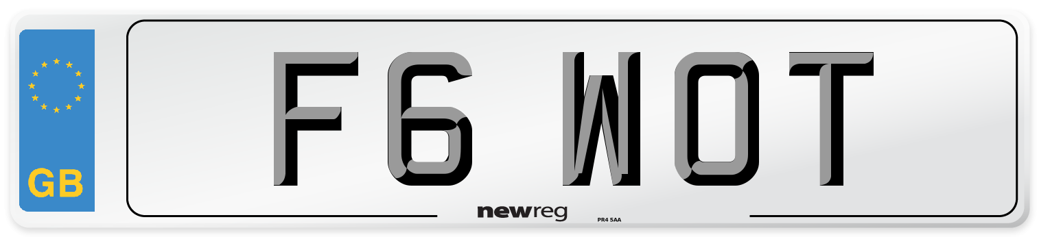 F6 WOT Number Plate from New Reg