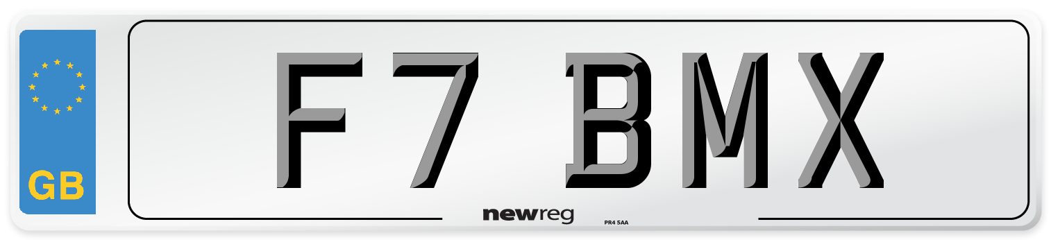 F7 BMX Number Plate from New Reg