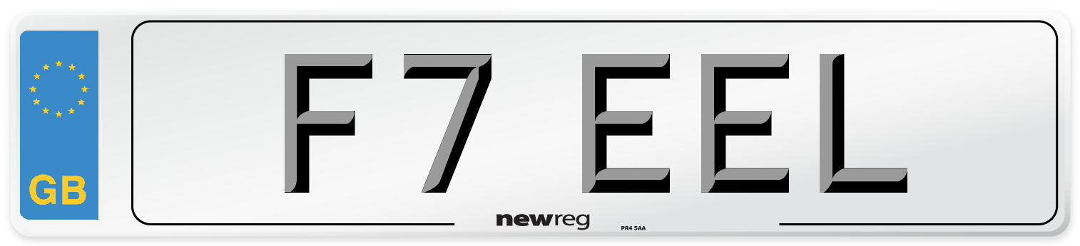 F7 EEL Number Plate from New Reg