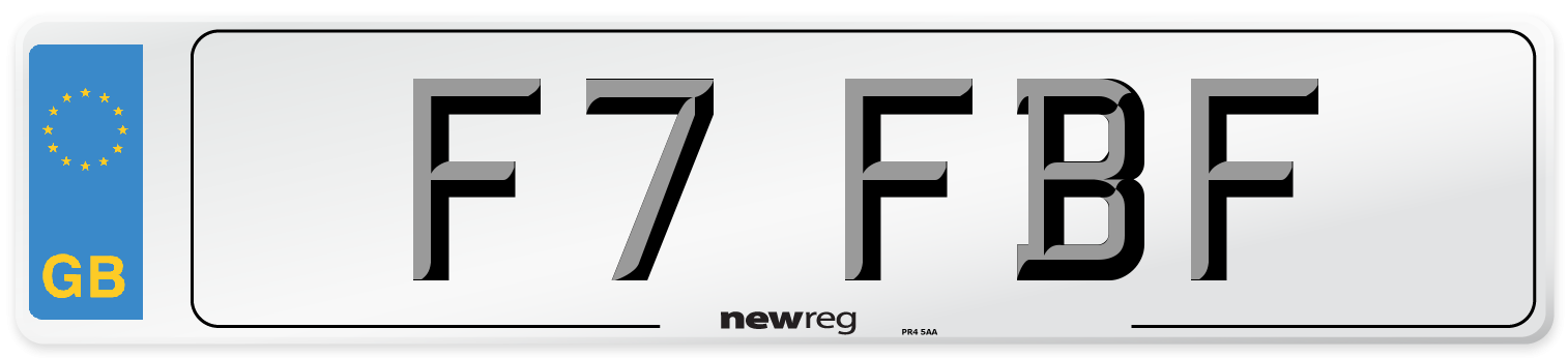 F7 FBF Number Plate from New Reg