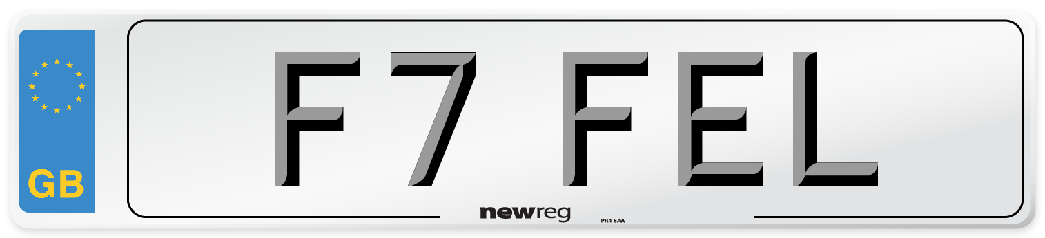 F7 FEL Number Plate from New Reg