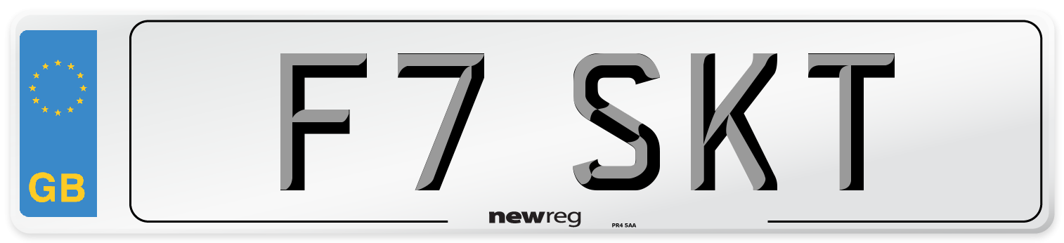 F7 SKT Number Plate from New Reg