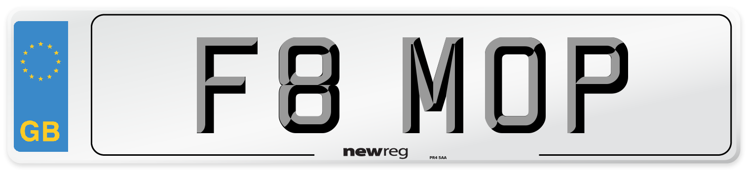 F8 MOP Number Plate from New Reg