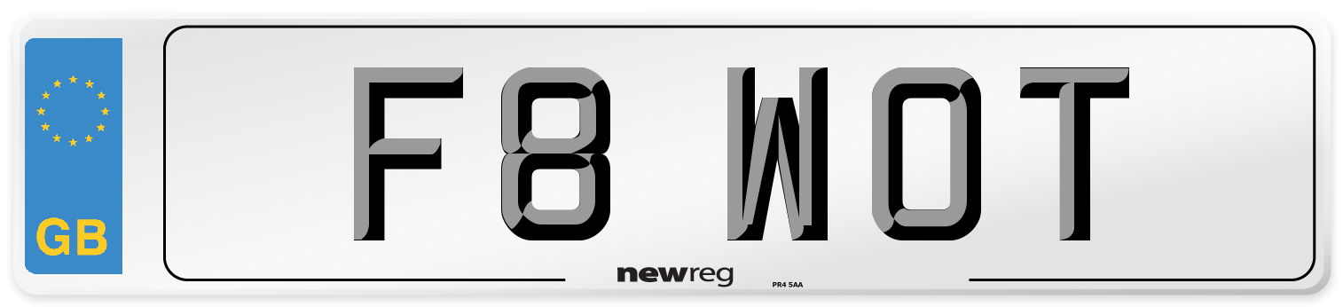 F8 WOT Number Plate from New Reg