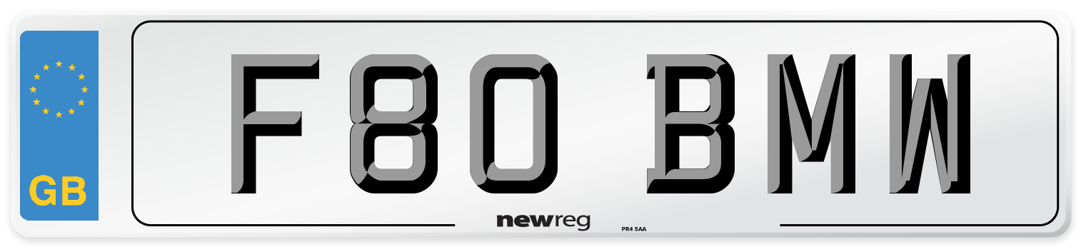 F80 BMW Number Plate from New Reg