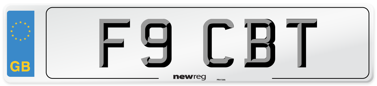 F9 CBT Number Plate from New Reg