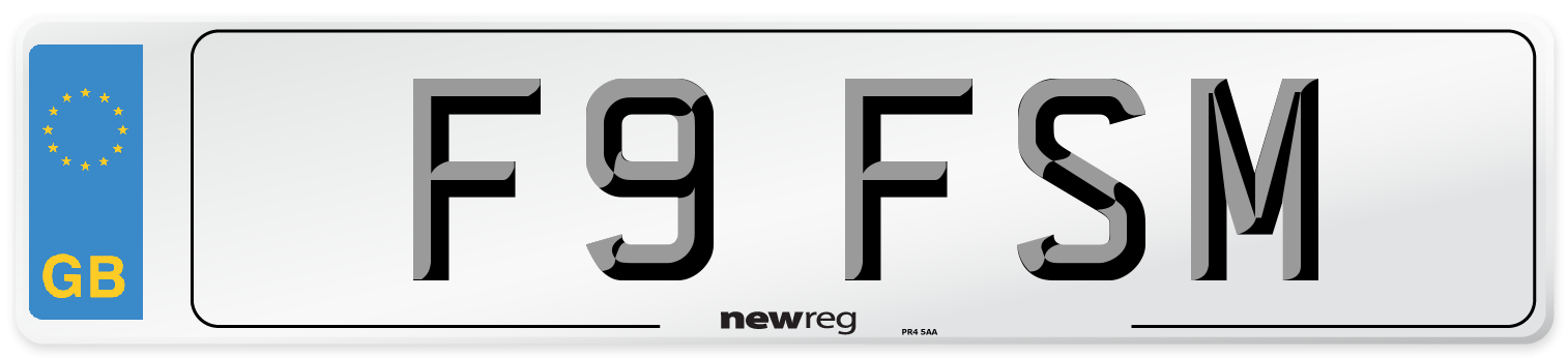 F9 FSM Number Plate from New Reg
