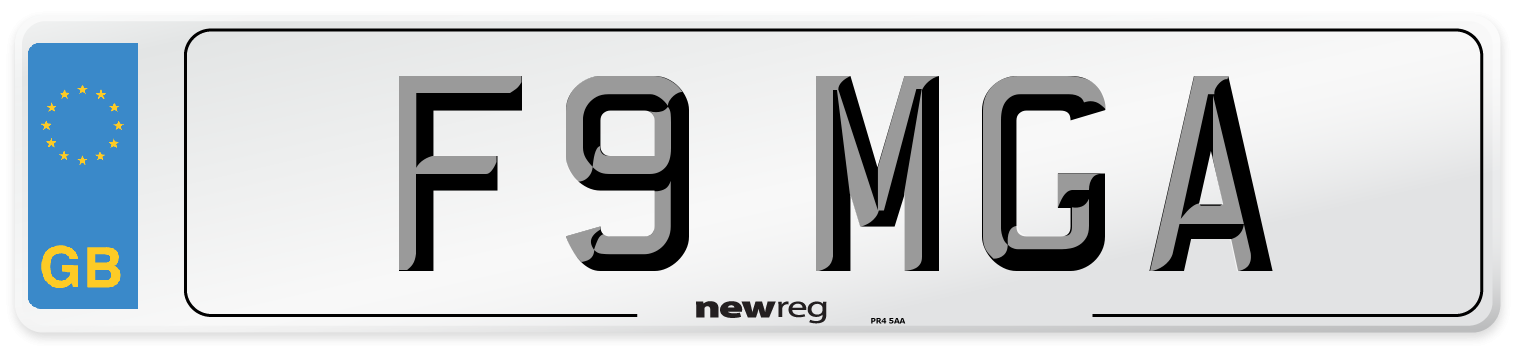 F9 MGA Number Plate from New Reg