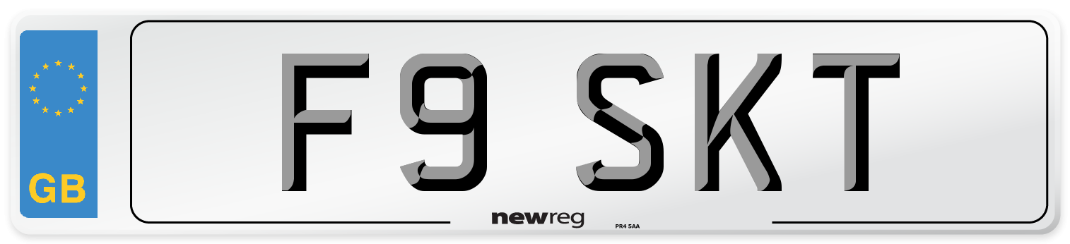 F9 SKT Number Plate from New Reg
