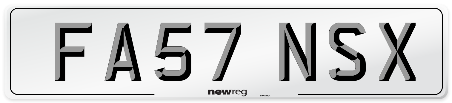 FA57 NSX Number Plate from New Reg
