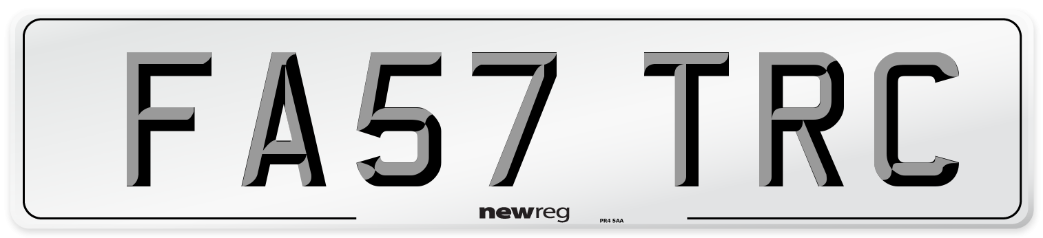 FA57 TRC Number Plate from New Reg