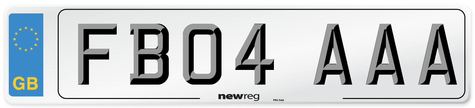 FB04 AAA Number Plate from New Reg